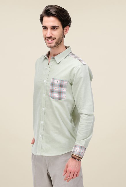 Yepme Green Ronin Solid Shirt