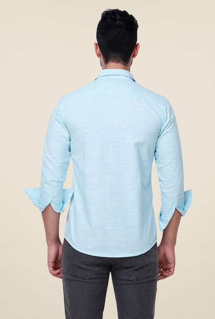 Yepme Light Blue Albern Solid Shirt