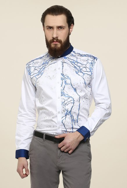 Yepme White Duke Party Shirt