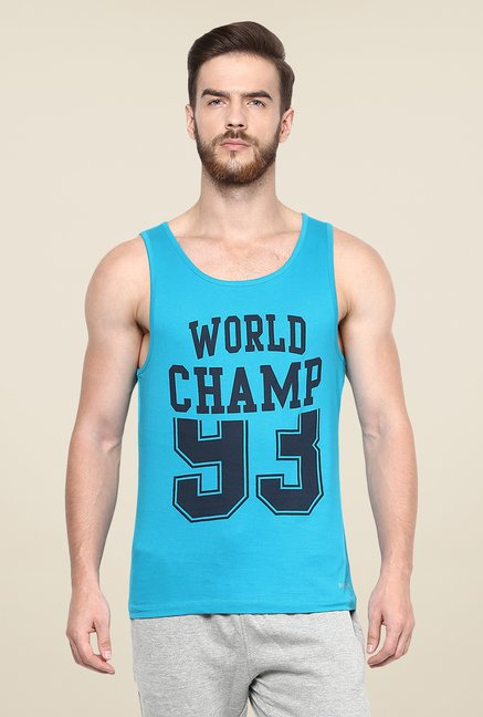 Yepme Blue Lars High Performance Muscle Vest