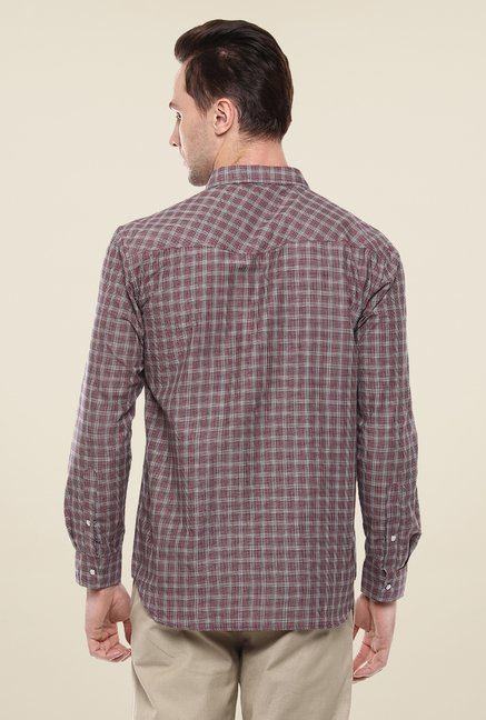 Yepme Purple Convey Checks Shirt