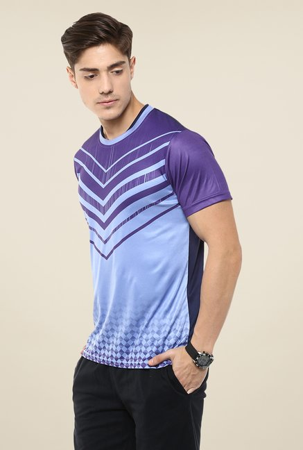 Yepme Blue & Purple Barry Printed T-shirt