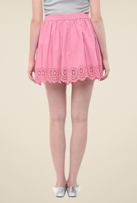 Yepme Pink Kimmince Solid Skirt