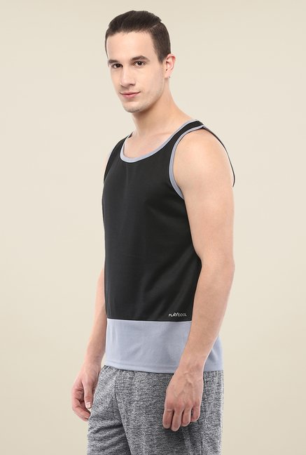 Yepme Black Kurt Muscle Vest