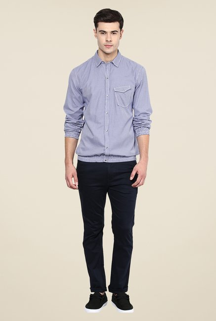 Yepme Blue Francis Slim Fit Shirt
