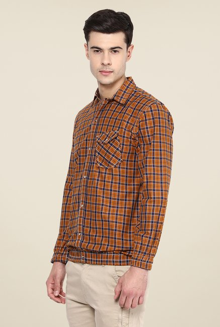 Yepme Brown Francis Slim Fit Shirt