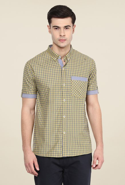 Yepme Yellow Francis Slim Fit Shirt