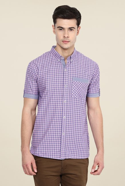 Yepme Violet Harold Slim Fit Shirt
