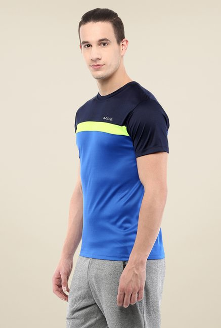 Yepme Blue Cyril High Performance Solid T-shirt