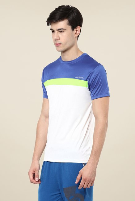 Yepme White Cyril High Performance Solid T-shirt
