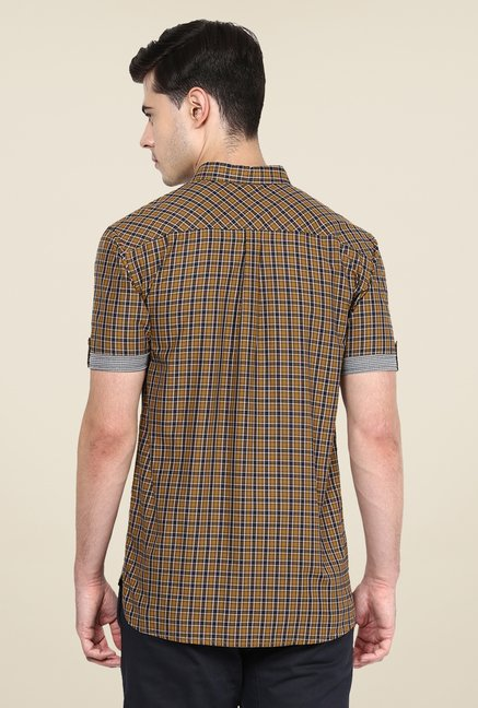 Yepme Brown Harold Slim Fit Shirt