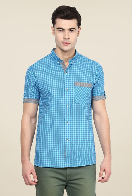 Yepme Blue Harold Slim Fit Shirt