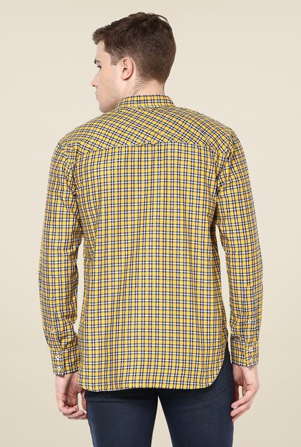Yepme Yellow Marcus Check Shirt