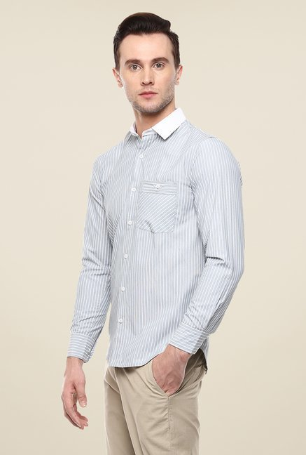 Yepme Light Blue Luther Striped Shirt