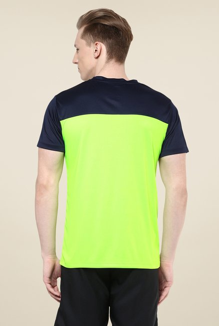 Yepme Green Cyril High Performance Solid T-shirt