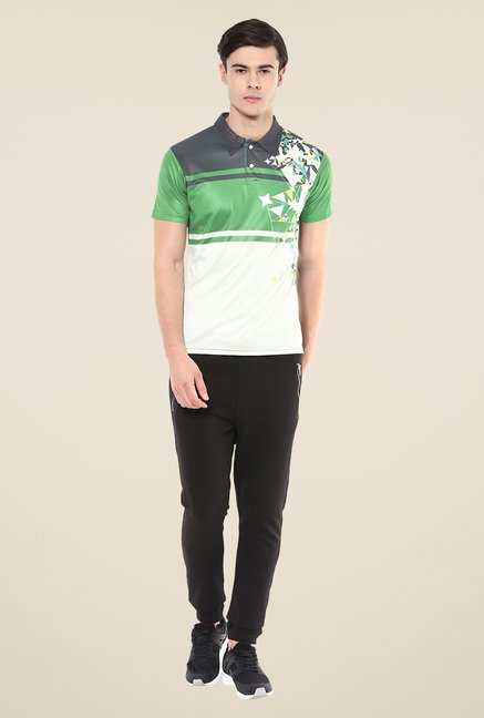 Yepme Multicolor Issac Block Printed Polo T-shirt