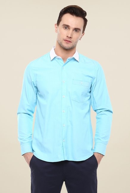 Yepme Blue Luther Solid Shirt