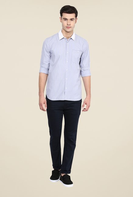 Yepme Blue Luther Slim Fit Shirt
