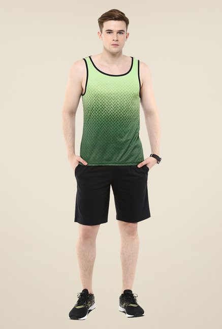 Yepme Green Arnold Faded Chevron Muscle Vest