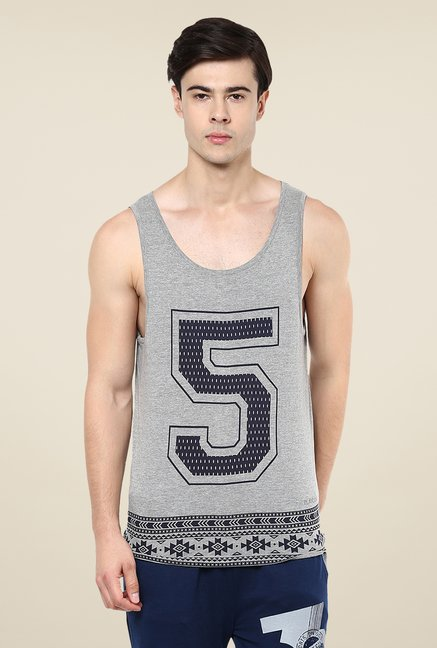 Yepme Grey Alfred High Performance Muscle Vest