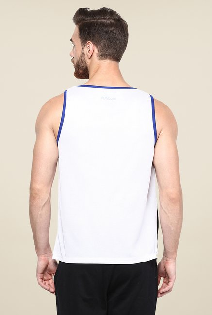 Yepme White Claude Muscle Vest