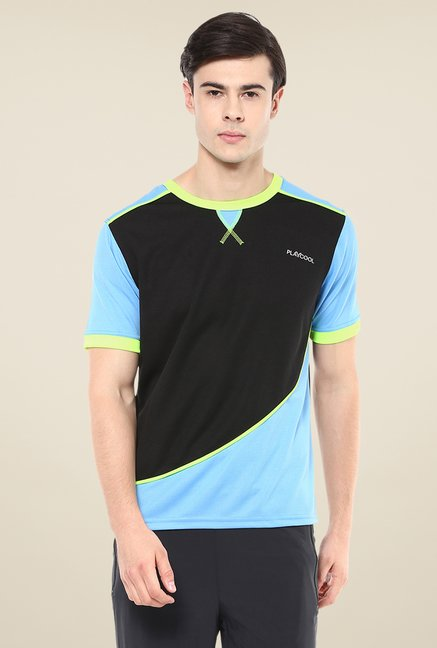 Yepme Black & Blue Stanley Active T-shirt
