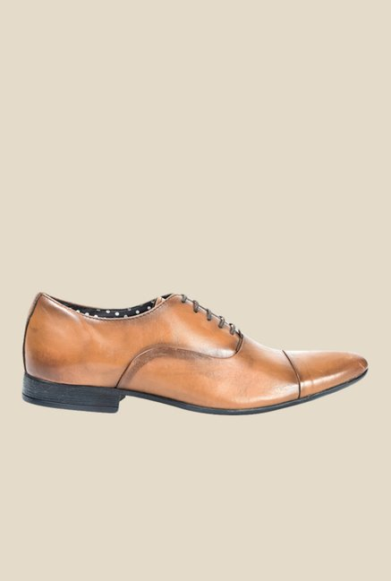 Hx London Epping Tan Oxford Shoes