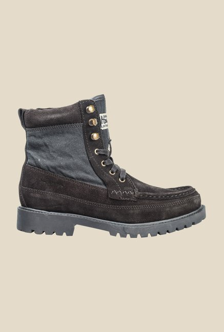 Hx London Oval Brown Biker Boots