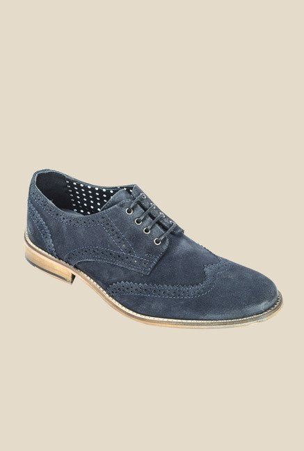 Hx London Monument Navy Brogue Shoes
