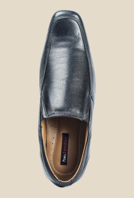 Hx London Morden Black Slip-Ons