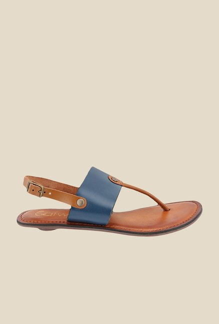 Catwalk Navy & Brown Back Strap Sandals