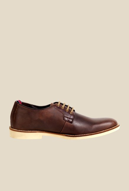 Hx London Alperton Chestnut Derby Shoes
