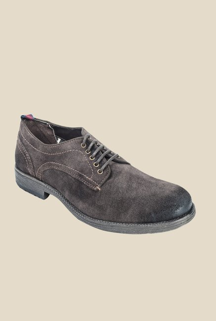 Hx London Woodford Brown Derby Shoes