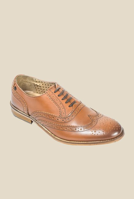 Hx London Regent Tan Brogue Shoes
