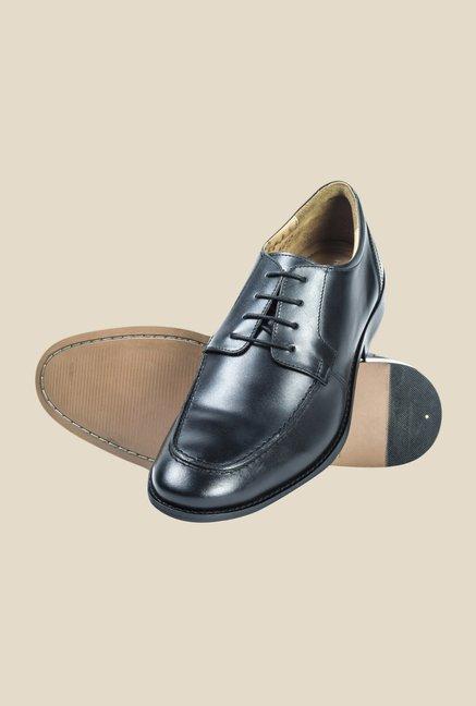 Hx London Kenton Black Derby Shoes