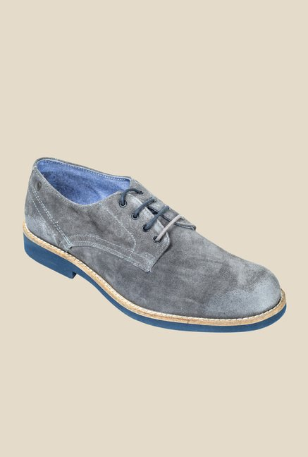 Hx London Paddington Grey Derby Shoes
