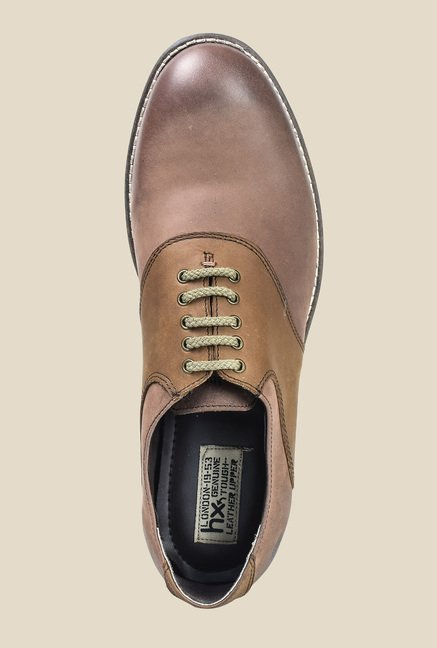 Hx London Bexley Chestnut Oxford Shoes