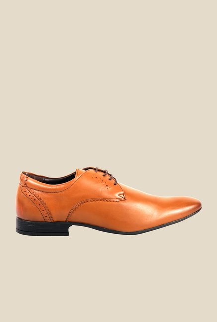 Hx London All Saints Tan Derby Shoes