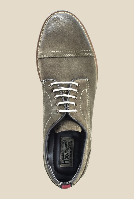 Hx London Debden Olive Derby Shoes
