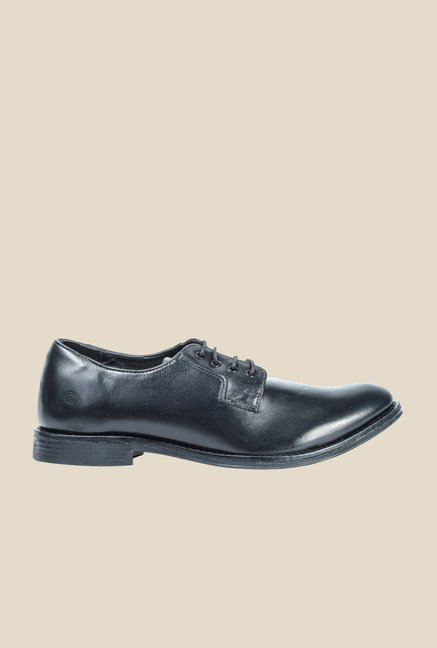 Hx London Leyton Black Derby Shoes