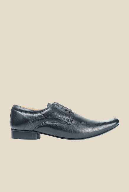 Hx London Moorgate Black Derby Shoes