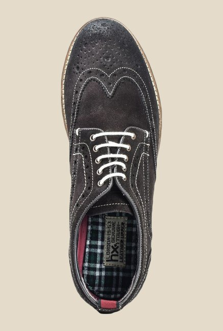 Hx London Kennington Brown Brogue Shoes