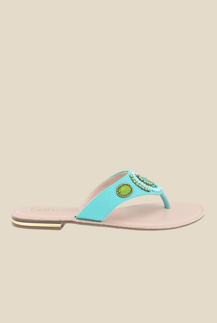 Catwalk Turquoise Thong Sandals