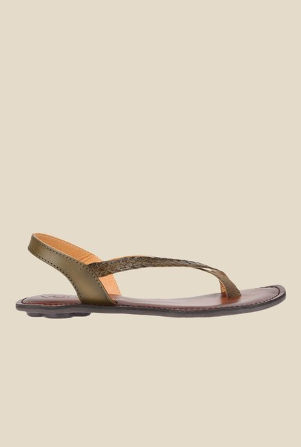 Catwalk Khaki Sling Back Sandals
