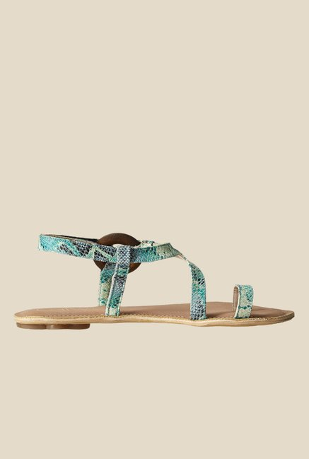 Catwalk Turquoise Toe Ring Sandals