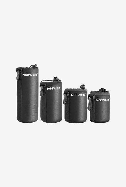 Neewer 4 Size DSLR Camera Lens Pouch Bag (Black)