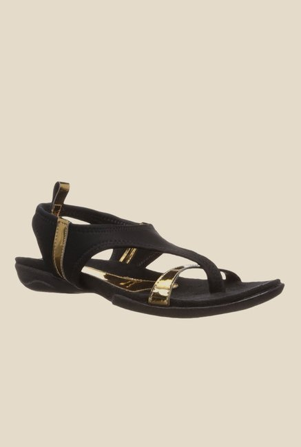 Catwalk Black Sling Back Sandals