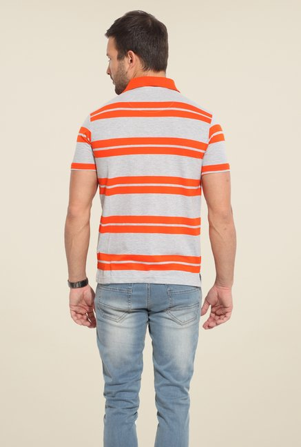 Duke Stardust Grey Striped T Shirt