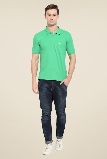 Duke Stardust Mint Green solid T Shirt