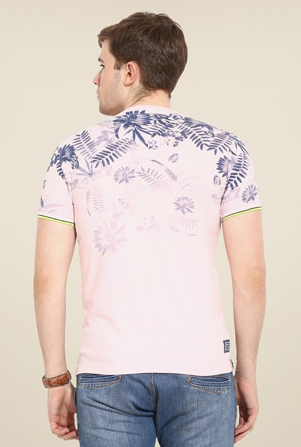 Duke Stardust Pink Tropical Print T Shirt